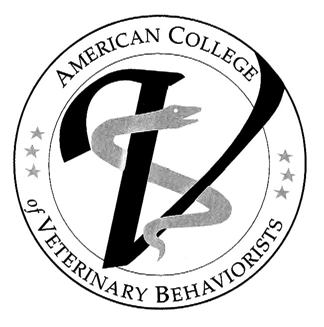Thanks to the American College of Veterinary Behaviorist for the Photo and Logo THIS is what to look for online!
