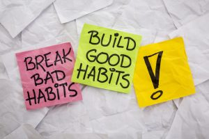 it takes time and positive reinforcement to break bad habits