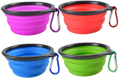 dog water and food bowl collapsible for travel